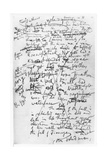 Page from the 'Finnegan's Wake' Notebooks, C.1922-39 Giclee Print by James Joyce