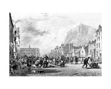 The Castle from the Grass Market, Edinburgh, Etched by George Cooke and Henry Le Keux, 1820 Giclee Print by Sir Augustus Wall Callcott