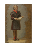 Singing Girl in School Uniform, 1950s Giclee Print by Konstantin Lekomtsev