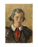 Portrait of a Pioneer Girl, 1950s Giclee Print by Konstantin Lekomtsev