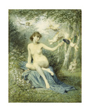 Nymph Driving Love Away with a Torch Giclee Print by Victor Florence Pollet