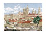 Spain. Galicia. Santiago De Compostela. Engraving Giclee Print
