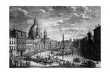View of the Piazza Navona During the Ferragosto Holiday, 1752 Giclee Print by Giuseppe Vasi