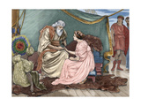 Pericles, Prince of Tyre and His Daughter Marina. by William Shakespeare Giclee Print