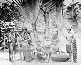 Natives of Mainland Penang, C.1870s Photographic Print