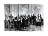 Discussion of the Congo Question at the Berlin Conference of 1884-85, 1885 Giclee Print by Pierre Emile Tilly