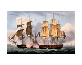 The Capture of La Confiante, May 31st 1798, from 'The Naval Achievements of Great Britain' by… Giclee Print by Thomas Whitcombe