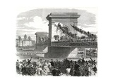 The Oxford and Cambridge Boat Race, Scene at Hammersmith Bridge Giclee Print
