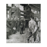 First World War (1914-1918). Albert Thomas Together with M. Schneider, Encouraging Workers of a… Giclee Print