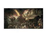 Aeneas Rescuing His Father from Burning Troy Giclee Print by Gillis van Valckenborch