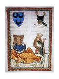 Heinrich Von Morungen (C.1150-1222). German Poet. Lovesick Poet. Codex Manesse (Ca.1300) Giclee Print