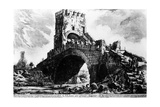 View of the Ponte Salario, from the 'Views of Rome' Series, C.1760 Giclee Print by Giovanni Battista Piranesi