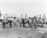 Dacoits Being Brought in by Mounted Infantry, C.1890 Photographic Print by Felice Beato
