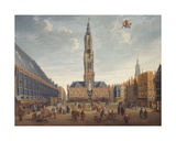 The Markt, Bruges, C.1691-1700 Giclee Print by Jan Baptist van Meunincxhove