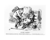 Caught Napping!, Illustration from 'Punch', September 5 1896 Giclee Print by John Tenniel