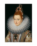 Archduchess Isabella, C.1601-20 Giclee Print by Frans II Pourbus