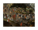 Detail of Christ Carrying the Cross, 1593 Giclee Print by Abel Grimmer or Grimer