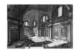 View of the Interior of Santa Maria Degli Angeli E Dei Martiri, from the 'Views of Rome' Series,… Giclee Print by Giovanni Battista Piranesi