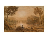 A Lake Scene Giclee Print by George The Younger Barret