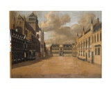 Burg Square, Bruges, 1751 Giclee Print by Pierre Francois Ledoulx