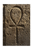 Ankh or Key of Life. Relief Giclée-Druck