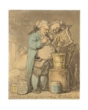 Dr. Brodum and His Assistant as Work Pro Bono Publico Giclee Print by Thomas Rowlandson