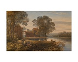 A Classical River Scene Giclee Print by George The Younger Barret