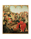 Gathering of the Manna in the Desert Giclee Print by  Master of the Evora Altarpiece
