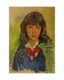 Portrait of a Komsomol Girl, 1960s Giclee Print by Konstantin Lekomtsev