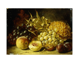 A Still Life with Grapes, Peaches, Plums and a Pineapple, 1861 Giclee Print by William Duffield