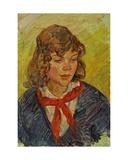 Portrait of a Pioneer Girl, 1960s Giclee Print by Konstantin Lekomtsev