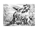 Allegory of the Barberini Family, Print Made by Karl Audran C.1623-40 Giclee Print by Pietro Da Cortona