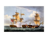 The Capture of La Vestale, August 20th 1799, from 'The Naval Achievements of Great Britain' by… Giclee Print by Thomas Whitcombe