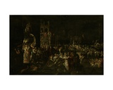 A Carnival Night in a Baroque Piazza Giclee Print by Jakob Isaaksz Swanenburgh