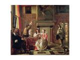 Conversation Giclee Print by Pieter de Hooch