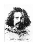 Portrait of Giovanni Lorenzo Bernini, Print Made by James Basire,1764 Giclee Print by Salvator Rosa