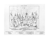 Lord Beaconsfield's Cabinet 1874 - Her Majesty's Ministers in Council, Print Made by Henry Lemon,… Giclee Print by Charles Mercier