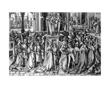Dance at the Court of Herod, C.1500 Giclee Print by Israhel van, the younger Meckenem