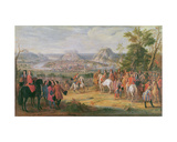 Louis Xiv at the Siege of Besançon in May 1674 Giclee Print by Pierre-Denis Martin
