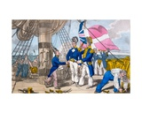The Quarter Deck before Battle, Plate from 'The Adventures of Johnny Newcome in the Navy' by John… Giclee Print by Charles Williams