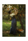 Mother and Child in an Orange Grove Giclee Print by Virginie Demont-Breton