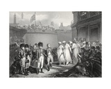 The Surrender of Two Sons of Tippoo Sultaun, Engraved by A.H. Payne Giclee Print by Henry Singleton