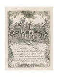 James Figg's Trade Card Designed by Hogarth Giclee Print by William Hogarth
