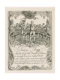 James Figg's Trade Card Designed by Hogarth Lámina giclée por William Hogarth