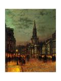 John Atkinson Grimshaw - Blackman Street, 1885 Digitálně vytištěná reprodukce