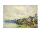The Seine at Croisset Giclee Print by Albert-Charles Lebourg
