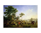 Mass in the Roman Countryside Giclee Print by Nicolas Antoine Taunay