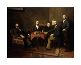 A Viennese Family Portrait Giclee Print by Isidor Kaufmann