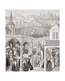 Philip II Augustus, King of France, from 'Military and Religious Life in the Middle Ages' by Paul… Giclee Print