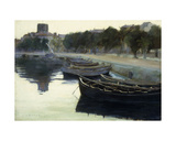 Boats at their Moorings, 1876 Giclee Print by Victor Dupre